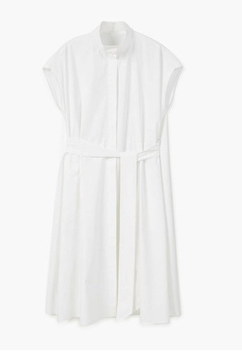 Mango Premium - Poplin Shirt Dress