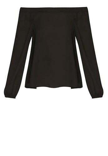 New Look Black Bardot Neck Long Sleeve Top