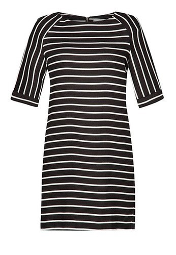 Mango Stripe Textured Dress