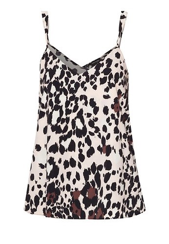 RIVER ISLAND Animal Print V-Neck Cami