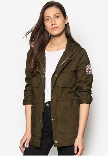 New Look green Plain Military Lightweight Jacket