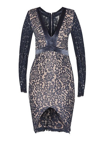 INDIKAH Long Sleeve Lace Dress