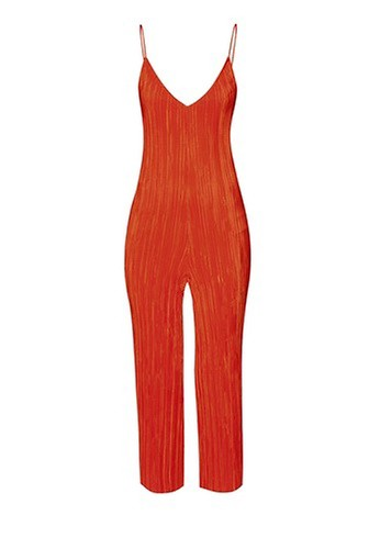 TOPSHOP Slouch Fit Pleated Jumpsuit