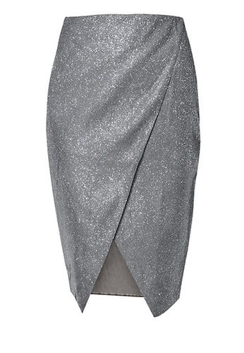MISSGUIDED Wrap Front Midi Skirt