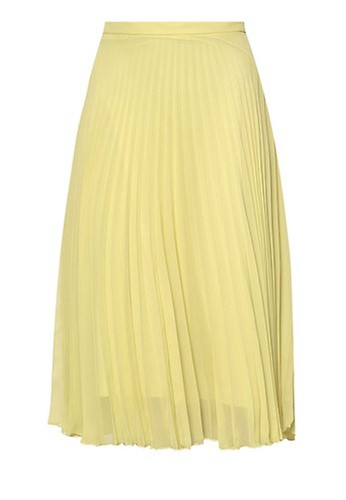 TOPSHOP Chiffon Pleat Midi Skirt