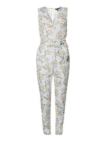 TOPSHOP Floral Print Wrap Jumpsuit