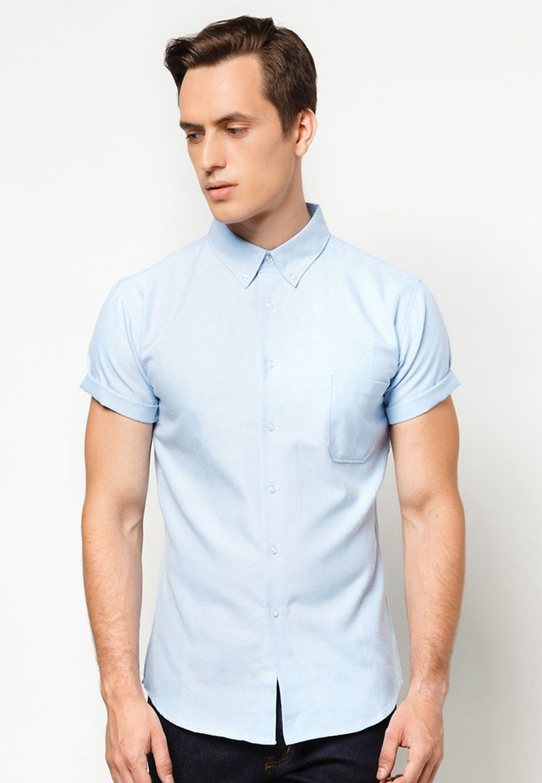 Basic Oxford Short Sleeves Shirt