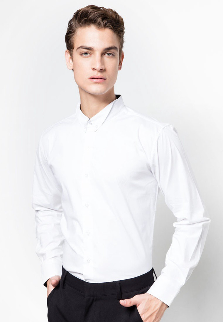 Premium Collection - Collar Detail Long Sleeve Shirt