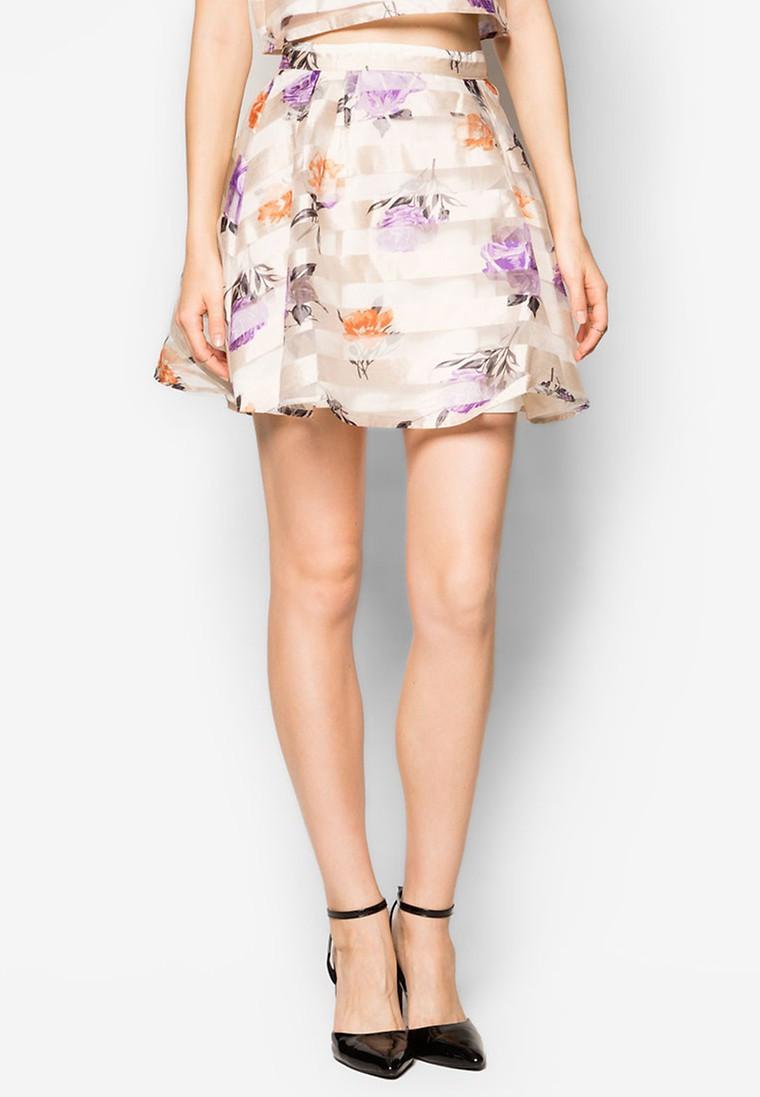 Boxy Organza Skirt