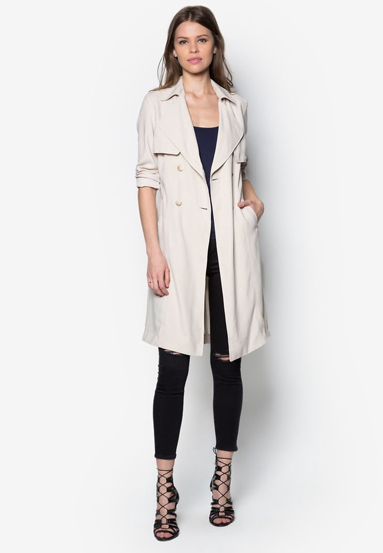 Drape Belted Trench Coat