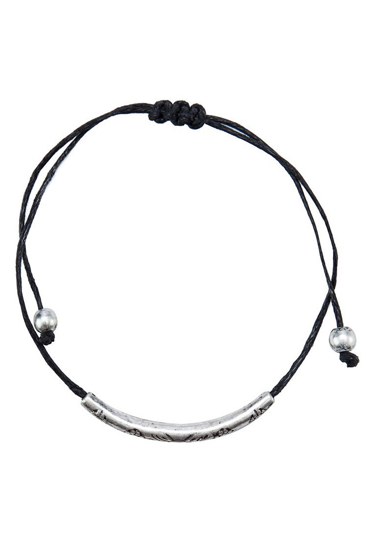 Black 2 Pack Thread Bracelets