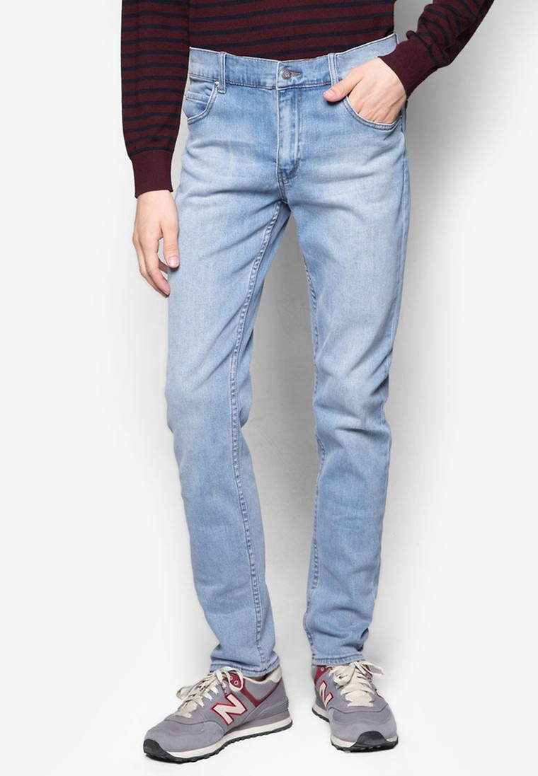 Tight Stonewash Blue Jeans