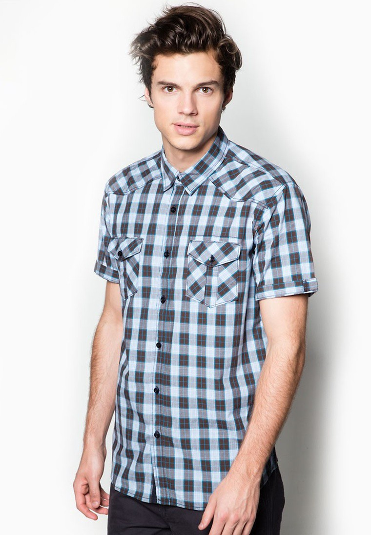 Western Checkered Short Sleeve