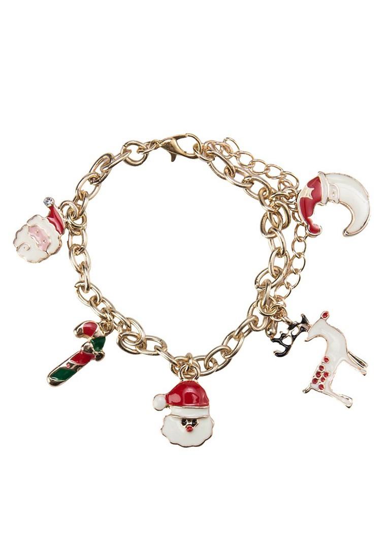 Assorted Santa Charm Bracelet
