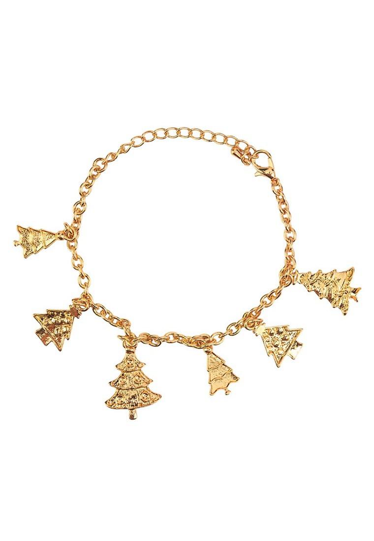 Minimalist Xmas Tree Charm Bracelet