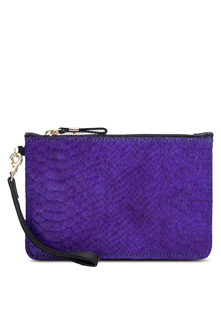 Snake Print Leather Purse