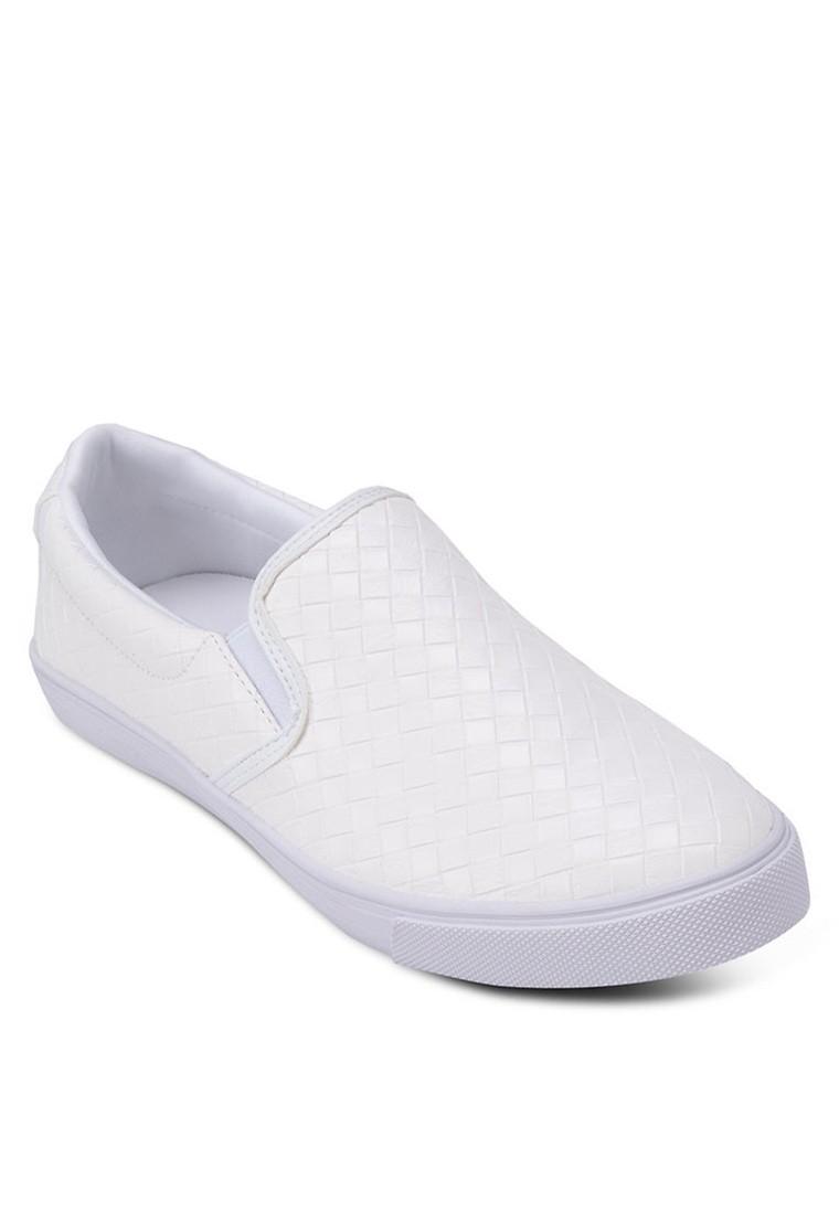 Weave Patterned Slip On Sneakers