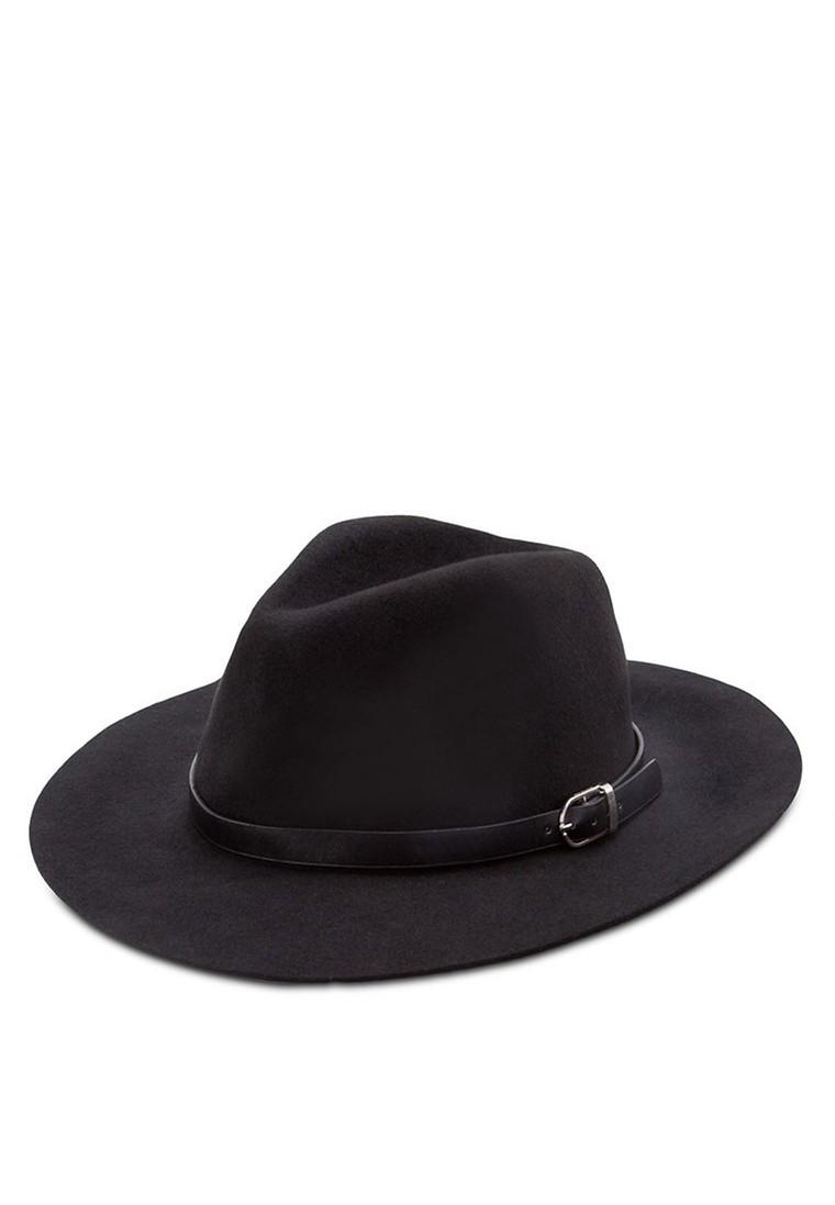Black Belt Trim Puritan Hat