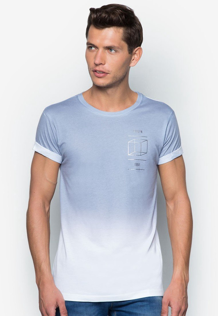 Faded Cube Print T-Shirt