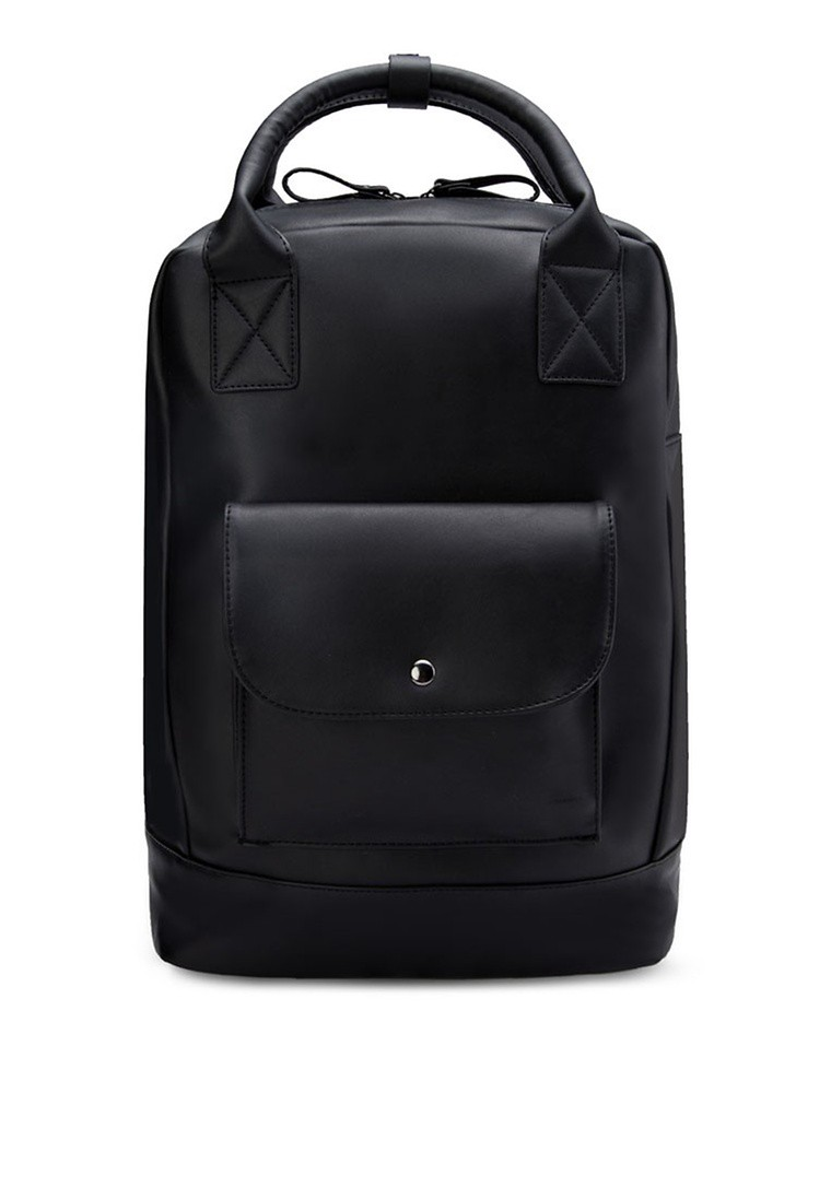 Boxy Backpack With Flap Pocket