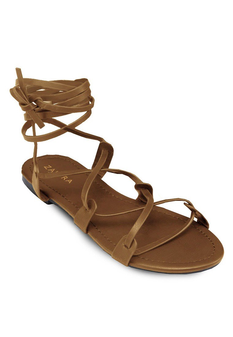Strappy Grecian-Look Sandals