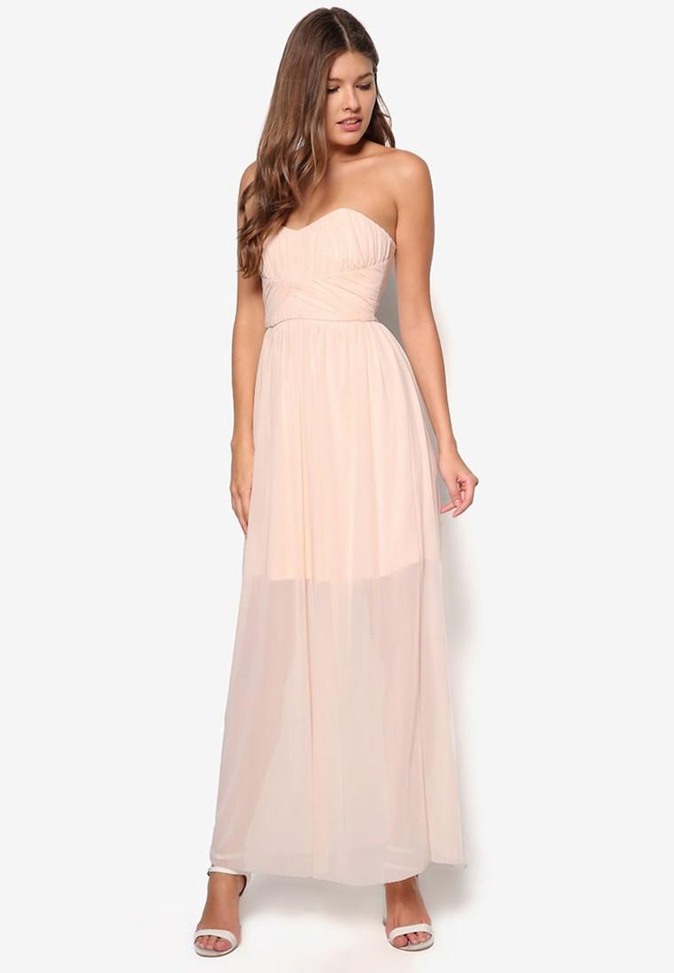 Petite Nude Bandeau Maxi Dress