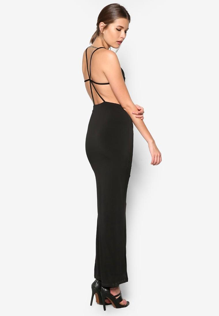 Cowl Neck Maxi Dress