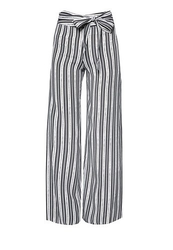 Miss Selfridge Mono Stripe Wide Leg Trousers