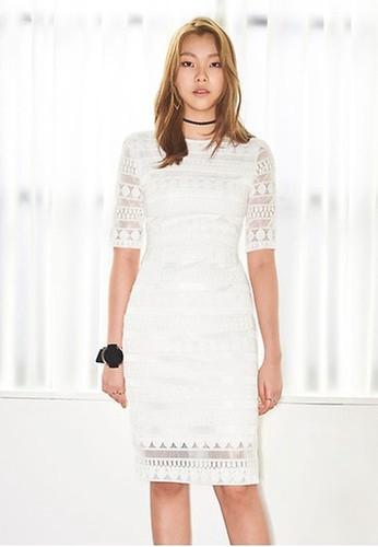 NAIN white Lace Midi Dress