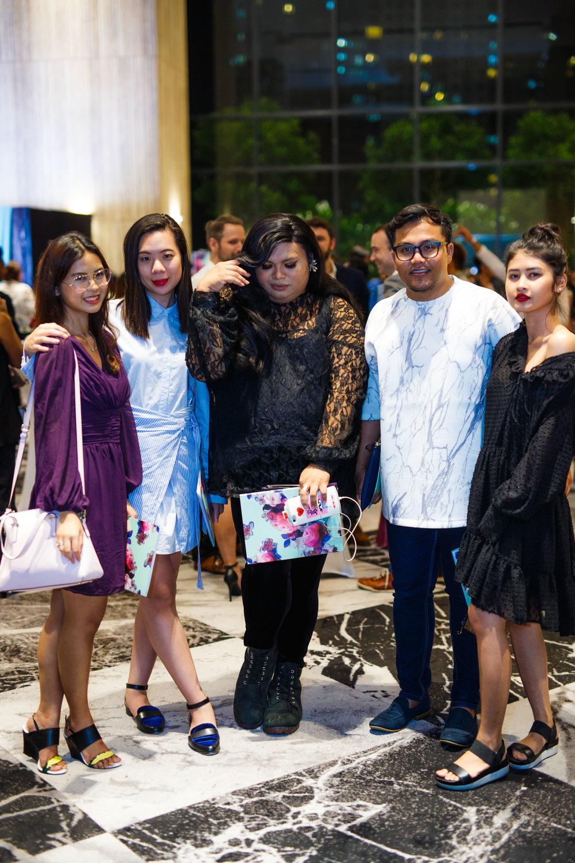 Medina Azaldin, Joan Kong, Vee, Fiezreen Ahmad, Julia Azman