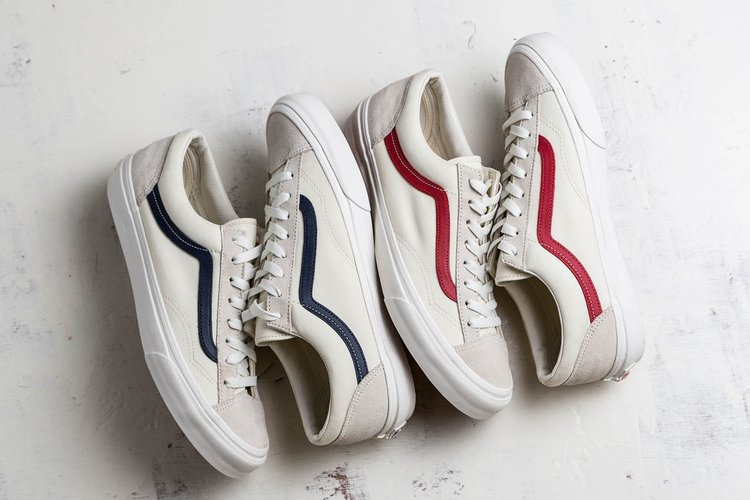 vans old skool white red gd
