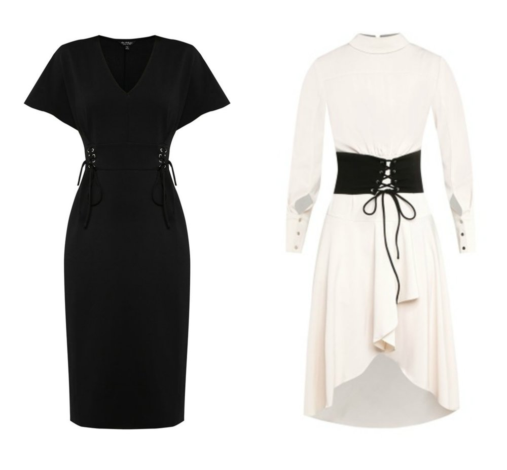 Miss Selfridge Black Corset Midi Dress ,  ZALORA Studio Corset Detail Midi Dress