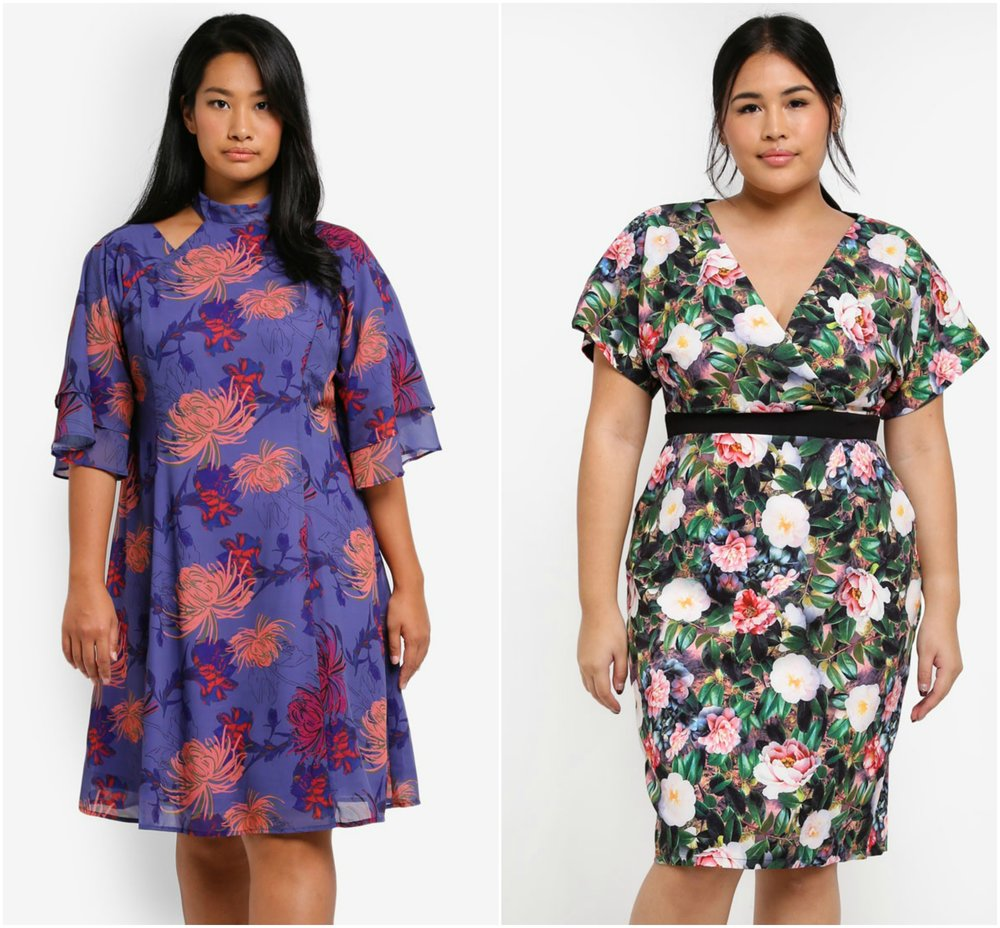 1.  LOST INK PLUS Plus Size Dress With Cape Back , 2.  LITTLE MISTRESS Plus Size Multi Kimono Dress