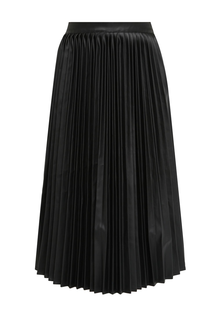 Something Borrowed Pleated Midi Skirt