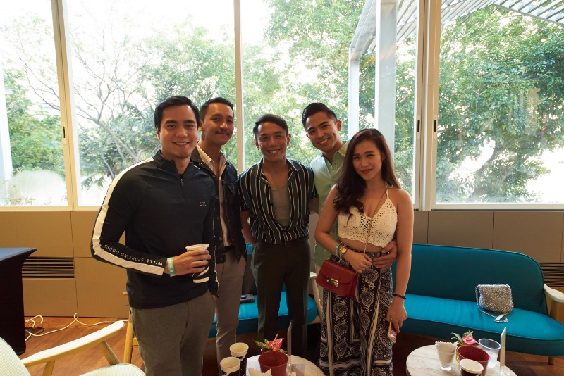From left: Gino M. Santos, David Milan, Vince Flores, Danil Palma and friend