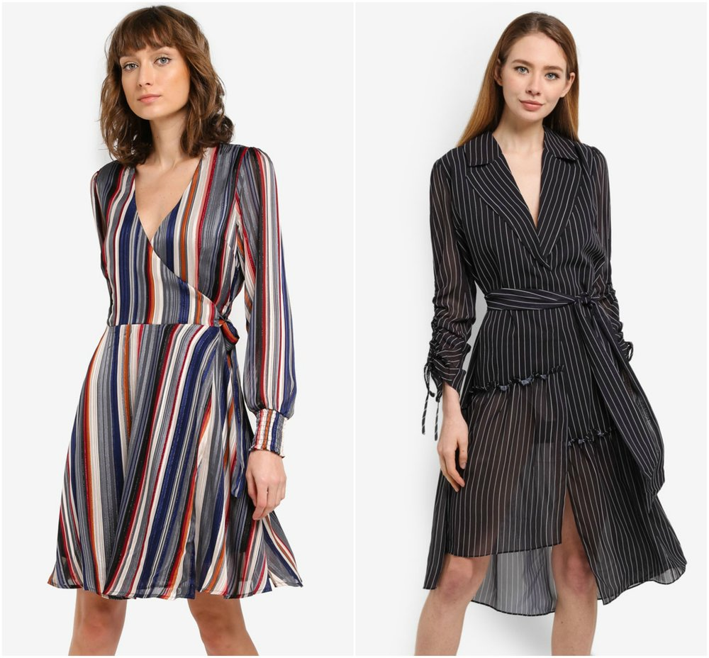 1.  Y.A.S Mison Long Sleeve Dress  , 2.  SELECTED FEMME Dusina Long Sleeve Dress