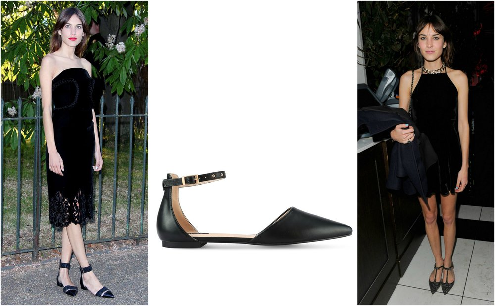 ZALORA Ankle Strap Studded D'Orsay Flats