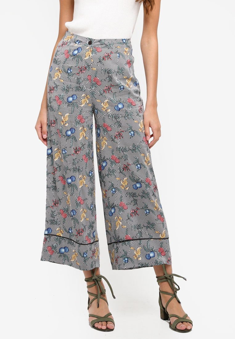 ZALORA Culottes With Contrast Piping