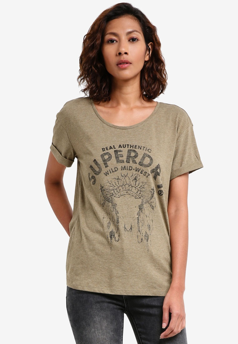 SUPERDRY Wild West Slim Boyfriend Tee
