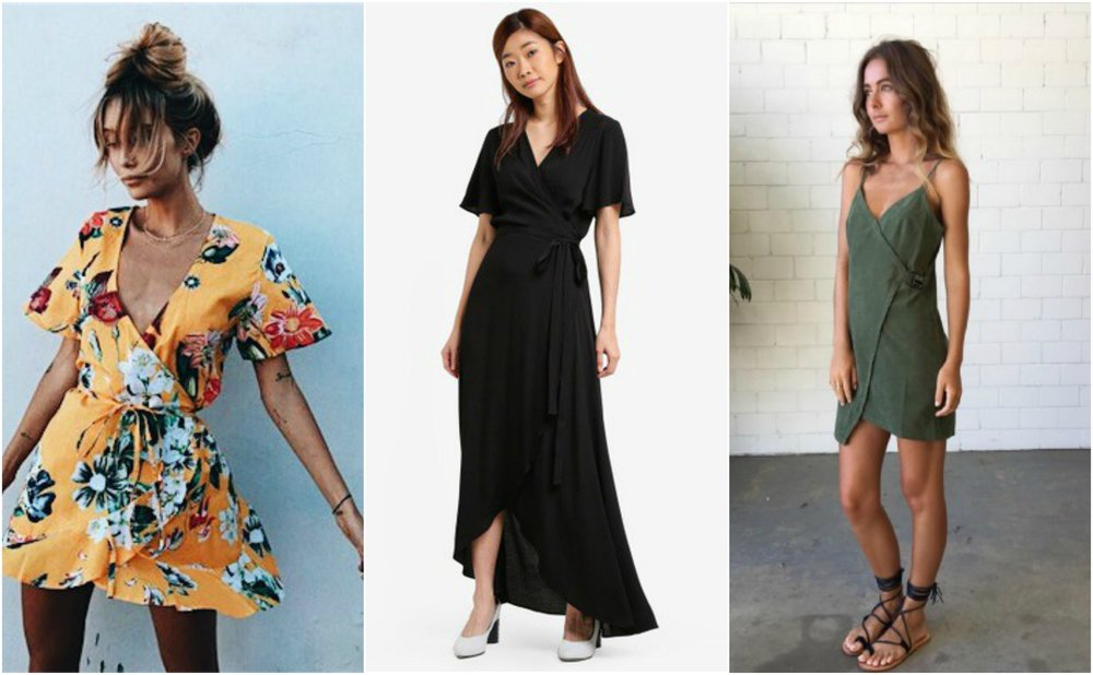 Asymmetrical Wrap Dress from  ZALORA