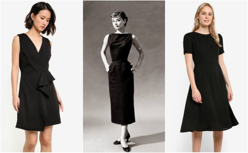 Left: Short Sleeve Midi Dress & Right: Waterfall front V Neck Dress both from  ZALORA