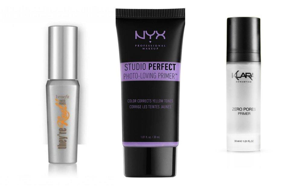 1. Benefit They're Real! Tinted Primer Mini , 2. NYX PROFESSIONAL MAKEUP Studio Perfect Primer - Lavender , 3.  KLARA COSMETICS Zero Pores Primer 30 Ml