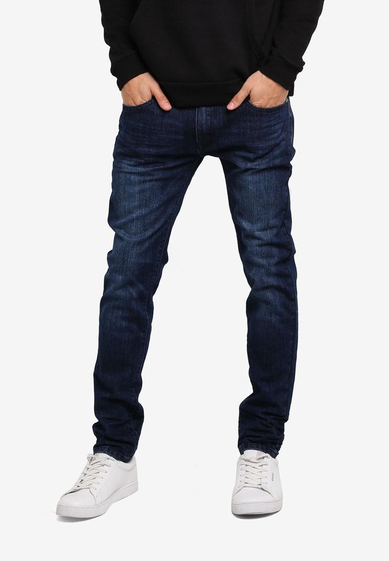 ZALORA Skinny Fit Crinkled Jeans