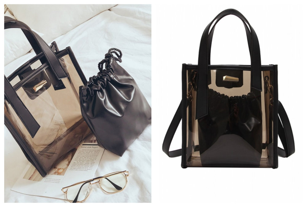 Sunnydaysweety  Transparent PVC Ladies' Sling Bag