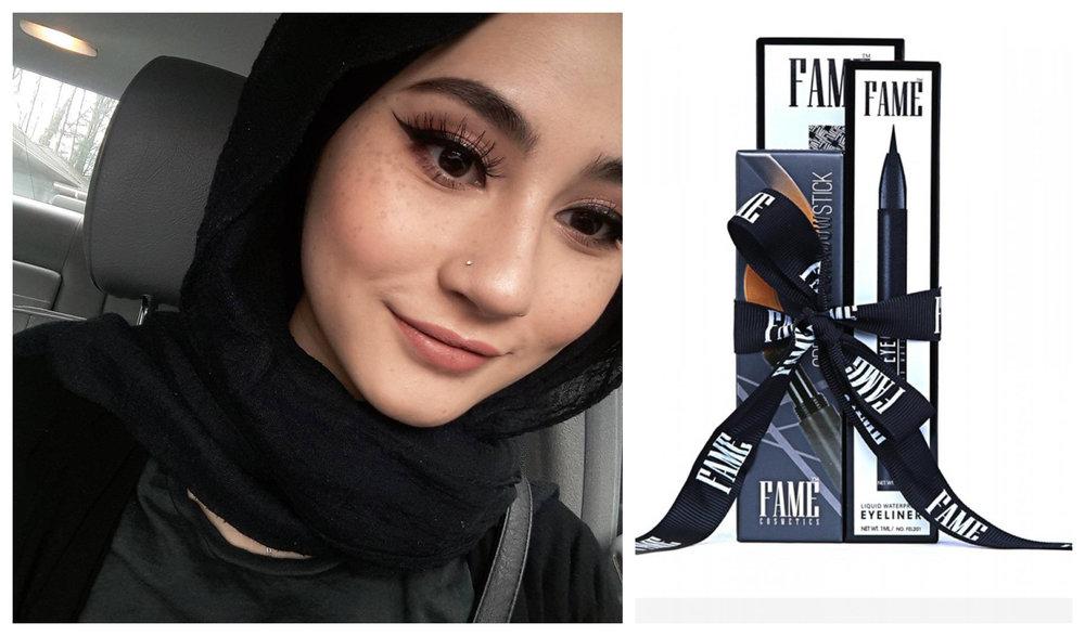 FAME COSMETICS Combo Mercun (Mascara+ Eyeliner+ Eyeshadow Stick Code 05)