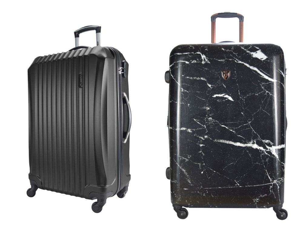 1.  Urbanlite Nova - 24 Inch ABS Hard Case Spinner Luggage - ULH 7903 BLACK , 2.  Heys Marquina H-13086 Polycarbonate 24 Inch Spinner Hard Case Luggage - Black