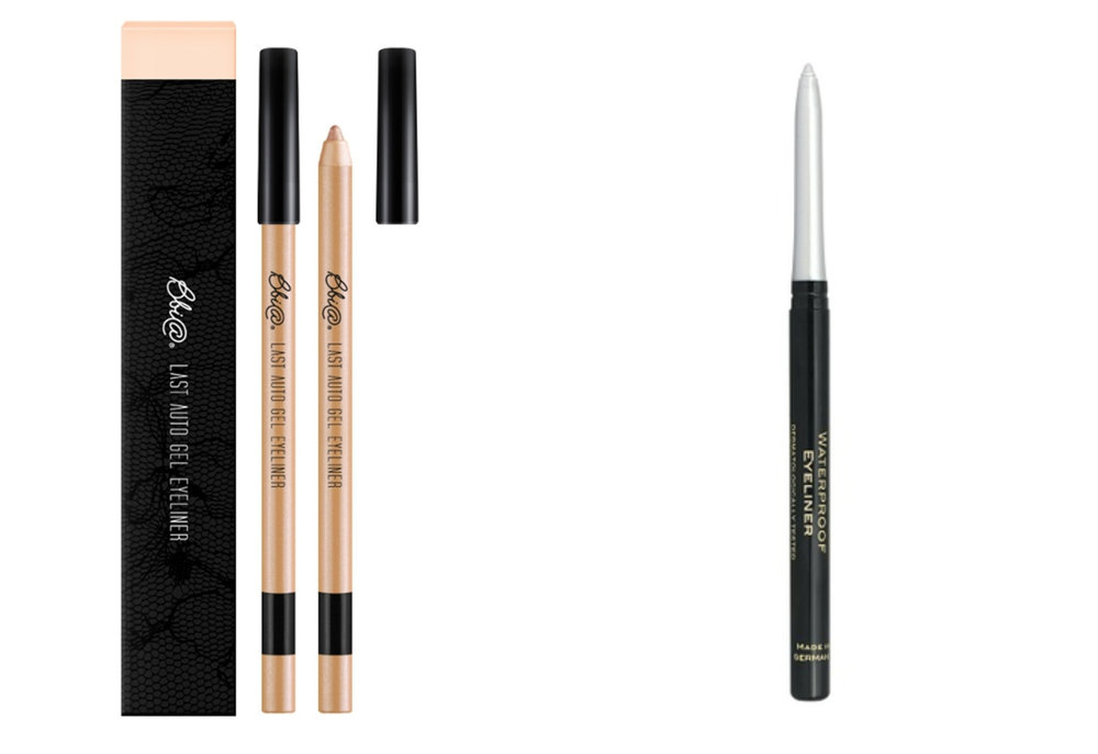1.  BBIA - Last Auto Gel Eyeliner Basic 04 Rose Gold , 2.  Golden Rose Waterproof Retractable Eye Liner - 06
