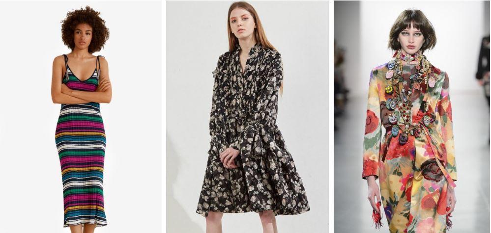 Mango Metallic Knit  Workwear Print Dress   Libertine F18