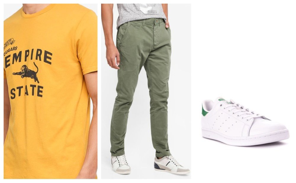 J.Crew Empire State Tee  |  Superdry International Chinos  |  Adidas Stan Smith Sneakers