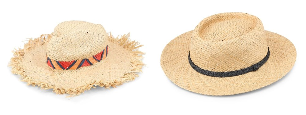 1.  TOPSHOP Straw Hat , 2.   TOPSHOP Straw Flat Top Hat